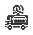 pretzel truck food truck solid style icon vector image vector image