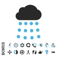 Rain Cloud Flat Icon With Bonus vector image vector image