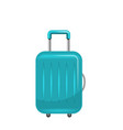 realistic polycarbonate suitcase baggage vector image