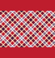 red plaid seamless fabric texture vector image vector image