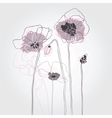 Red poppies on a white background vector image vector image