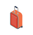 red travel bag isolated icon vector image vector image