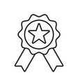 reward grade icon star ribbon award badge winner vector image