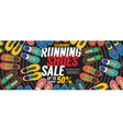 Running Shoes Sale 6250x2500 pixel Banner vector image