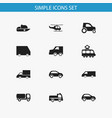 set of 12 editable transportation icons includes vector image vector image