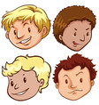 set of different male head vector image