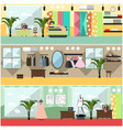 set of fashion atelier interior flat vector image vector image