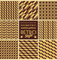 Set of seamless geometrical patternsVintage vector image vector image
