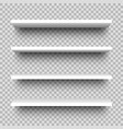 set store shelves front view white empty shop vector image