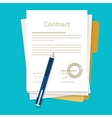 signed paper deal contract icon agreement pen