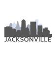 silhouette jacksonville florida - skyline of vector image vector image