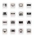 simple hi-tech equipment icons vector image vector image