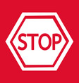 stop sign icon design vector image vector image
