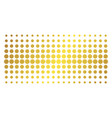 sunflower gold halftone effect vector image vector image
