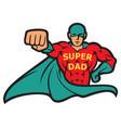 super dad superhero vector image vector image