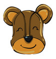 sweet bear on white background vector image vector image