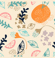 trendy modern abstract floral seamless vector image
