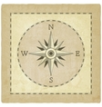 Wind rose on old background vector image