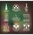 Wine club and restaurant labels set vector image vector image