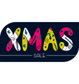 xmas sale banner vector image vector image
