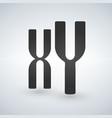 xy man and woman chromosomes icon style is flat vector image