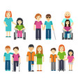 disabled people with helping vector image