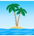 island palm1 vector image