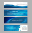 abstract set of 4 simply banner in blue color vector image