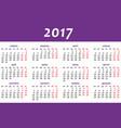 calendar for 2017 on white background eps vector image