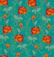 rose pattern orange vector image
