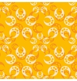 Abstract orange seamless pattern vector image