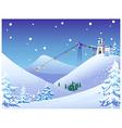 Ski Resort Background vector image