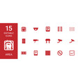 15 area icons vector image vector image