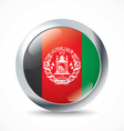 Afghanistan flag button vector image