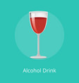 alcohol drink winery refreshing burgundy beverage vector image vector image