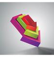 Arrows color 3d vector image vector image