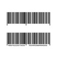 bar code on isolated white background vector image vector image