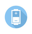 battery icon with charge level sign and symbol vector image vector image