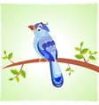 bird blue vector image