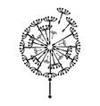 black dandelion icon simple style vector image