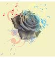black rose vector image vector image