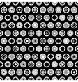 Black star seamless pattern vector image vector image
