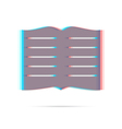 Book anagliph icon with shadow vector image vector image