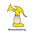 breast pump breastfeeding product vector image