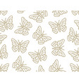 butterfly seamless pattern flying insects vector image vector image