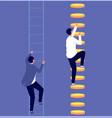 career inequality social gap employee vector image vector image