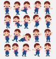 cartoon character girl in jeans set with vector image vector image
