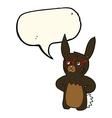 cartoon rabbit wearing spectacles with speech vector image vector image