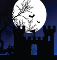 castle on a moonlight color vector image
