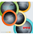 colorful abstract 3d balls design elements vector image vector image